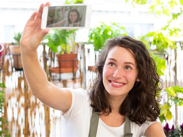 Postkarten Selfie